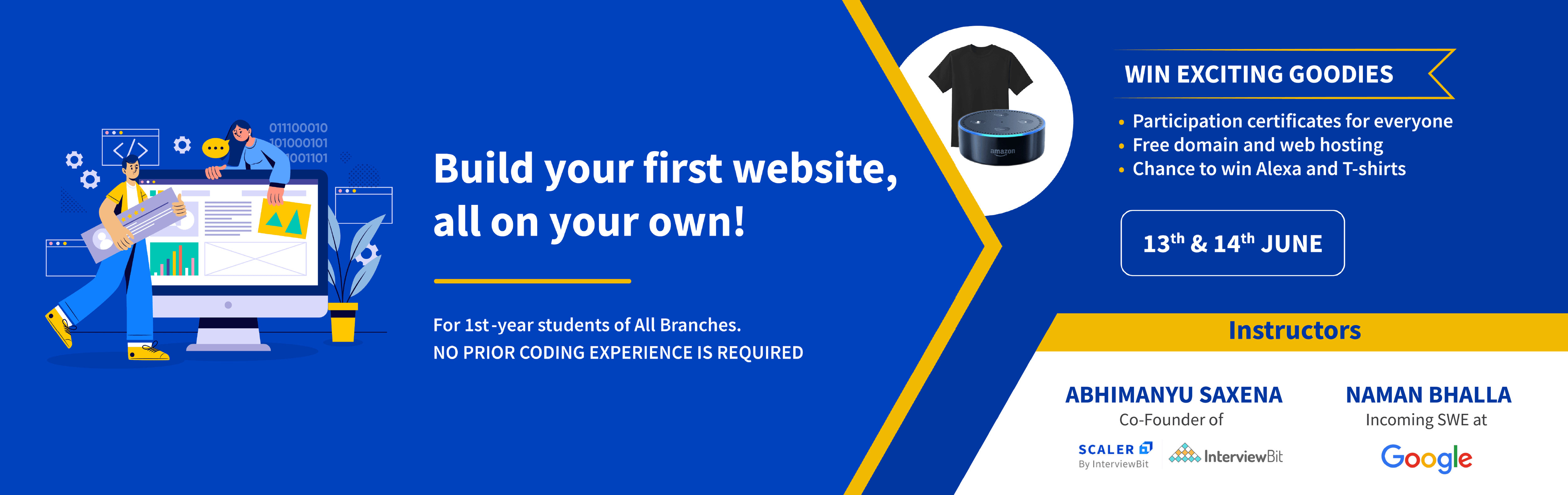 Build your first website all on your own!